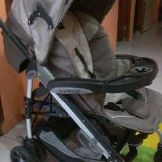 Jual butuh Stroller baby elle kondisi spt baru jarang pake