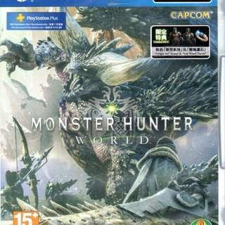 PS4 MHW Monster Hunter World