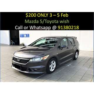 WEEKEND SALE 3-5 FEB Honda Stream