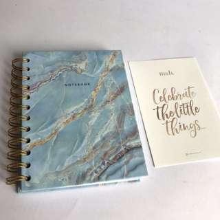 Milk & Honey Marble Notebook