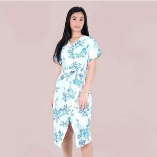 HTP Floral Wrap Dress