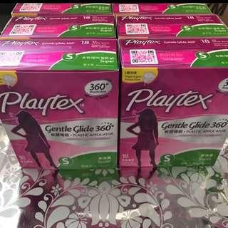 衛生棉條playtex tampon多流量super 6盒