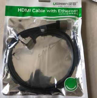 1 right side hdmi cable (1M