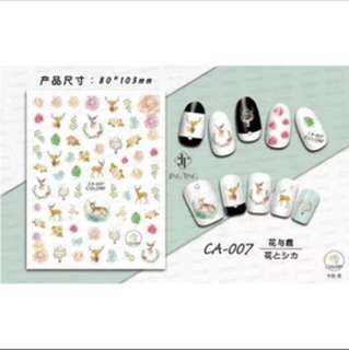 DIY nail sticker