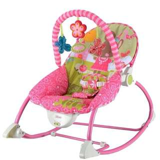 Fisher Price Toy Vibrating Baby Rocker with Play Gym in Pink