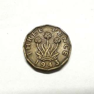 Great Britain three Pence