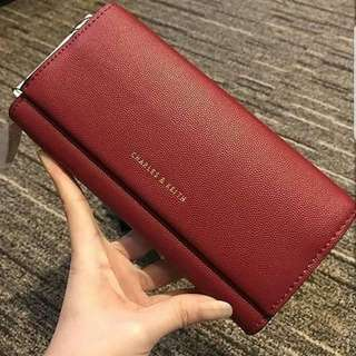 Original CHARLES & KEITH wallet with tassel