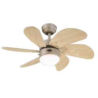 """Ceiling fan turbo swirl (WH6T30BAD) 6-blade 30"""""""