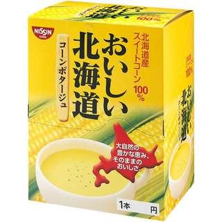 日本 空運正版 日清 北海道限定玉米濃湯 16g x24條 北海道產玉米100%  (賞味期限: 2019.5.14) おいしい北海道コーンポタージュ