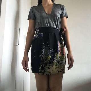 Zara Black Printed Mini Skirt