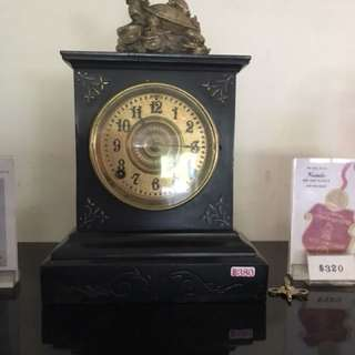 Antique cast iron Ansonia mantle clock