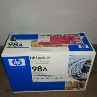 New HP Laserjet Print Cartridge 98A For Hp Laserjet Printer 4 - 4+ - 4M - 4M+ - 5 -5M -5N, in A Box Unopened & Sealed - Two Boxes, $65 each