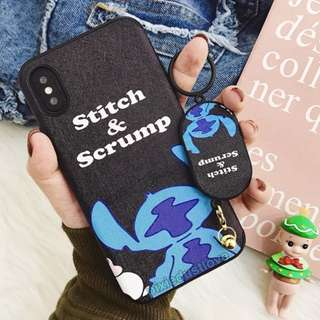 stitch phone casing with keychain phone casing
