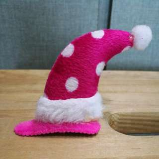 Christmas hat hair pin