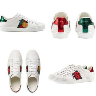 Gucci Aces Embroidered sneakers 菠蘿 甲蟲 休閒鞋 女裝鞋 Gucci shoes 現貨