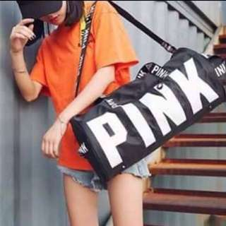 Black Pink Travel Bag