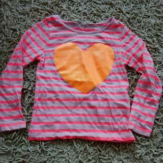H&M Top orange heart