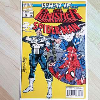 Marvel Comics What If 58 The Punisher had Killed Spider-Man Near Mint Condition