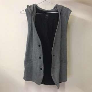 YD - Grey Hooded Vest