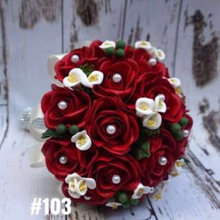 Clay Wedding Rose Bouquet #103
