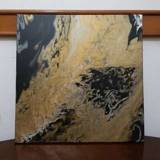 Golden Marble Art Painting...