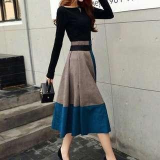 Formal Top and Velvet Dress Skirt