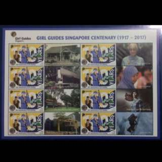 Singapore girl guide special Mystamp sheet MNH