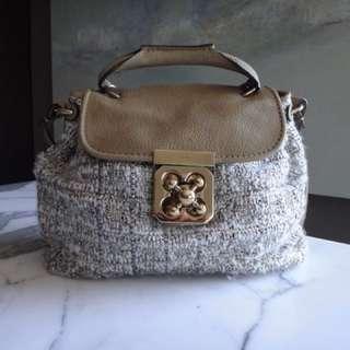 Chloe Tweed Turnlock bag
