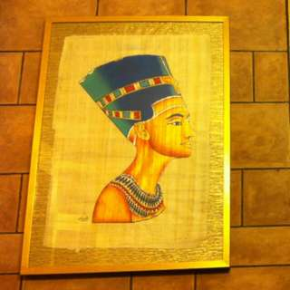 Wall Frame of Egyptian Theme - Queen Nefertiti