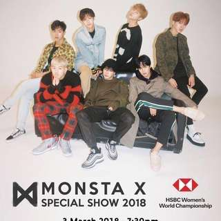 [HELPING] monsta x HSBC women's world championship special show 2018 ticket