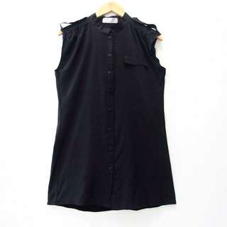 AA009 SIZE L AVENUE UCANSEE BLACK LONG BAJU PREMIUM BRANDED HIGH QUALI