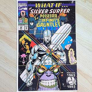 Marvel Comics What if 49 Siliver Surfer Possess the Infinity Gauntlet