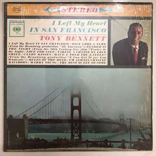 Artist: Tony Bennett; Title: I left my heart in San Francisco; 12 inches LP Album Record; Columbia Records