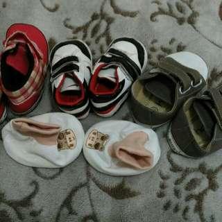 4 pcs baby shoes