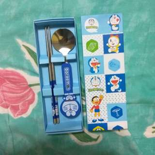Doraemon stainless steel utensil set