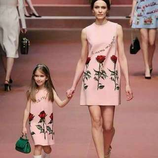 DG Inspired 3D Floral Mother & Daughter Set