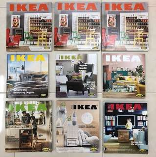 IKEA Catalog, 9 Volumes : For Year 2011, 2012, 3013, 2014, 2015, 2016, 2018; All are Malaysia Edition, except Year 2016 is USA Edition