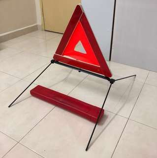 Foldable Car/Automotive Road Side Emergency Signage; Brand: Proton; Include plastic casing for storage