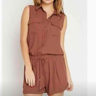 Drawstring Polo Romper / Jumpshort