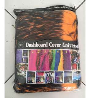 Cover dashboard orange hitam / bulu dashboard hitam orange / alas dahboard hitam orange