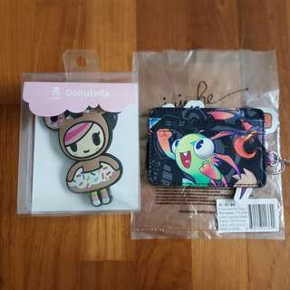 Jujube WOW Cute But Deadly Be Charged and Donutella Luggage Tag Bundle