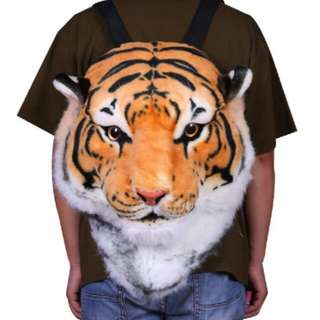 XL Tiger Head Backpack (used as Display only)