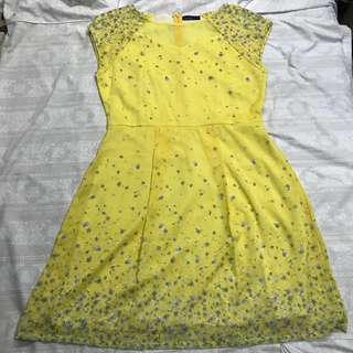 Paperdoll Yellow Floral Dress