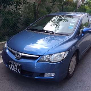 Honda Civic IMA hybrid for rental