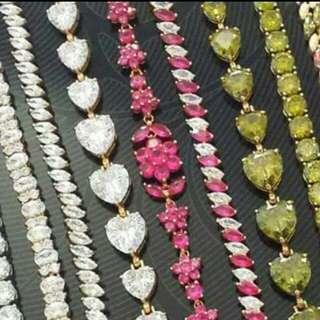AAA GRADE GEMSTONE JEWELLERY RP$22000 BANGLES BRACELETS EARRINGS NECKLACES