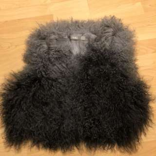 Tibet lamb fur coat