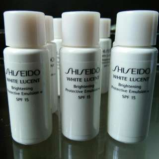Shiseido white lucent brightening protective emulsion SPF 15 (7mlx3pc)