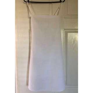 Princess Polly Size 8 White Mini Dress