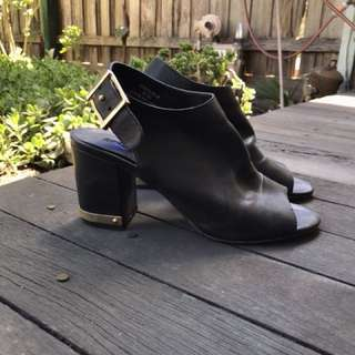 Topshop block heel with gold hardware - free shipping