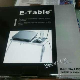 E-table meja portable laptop